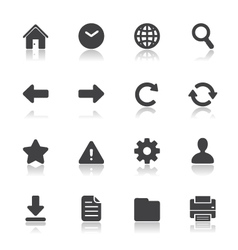 Website and Toolbar Icons vector image vector image