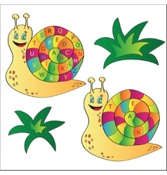 a snail - puzzle for child vector image vector image