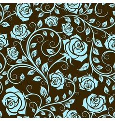 Antique scrolling rose seamless pattern vector image vector image