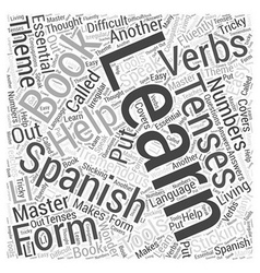 Books and Other Tools to Help You Learn Spanish vector image