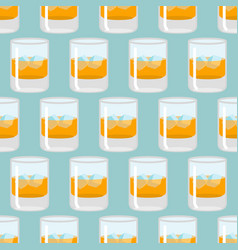 glass of whiskey and ice seamless pattern scotch vector image vector image