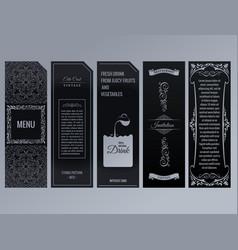 set of design elements labels icon logo vector image vector image