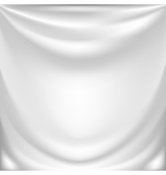 white silk drapery vector image
