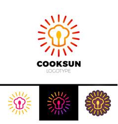 Kitchen cafe restaurant - logo template vector