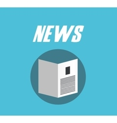 newspaper flat design vector image
