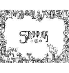 steampunk fram vector image vector image