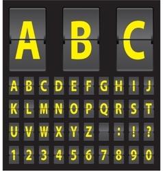 alphabet of black mechanical panel vector image vector image