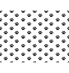Animal footprint pattern vector