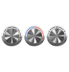car air conditioning switches vector image