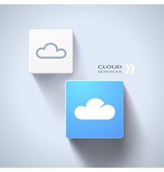 Cloud services concept vector image vector image