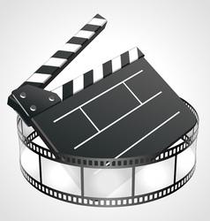 film clap board vector image vector image