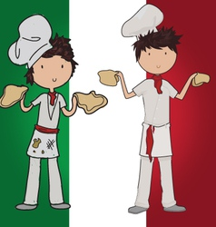 Pizza chef vector image vector image