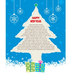 ripped christmas tree vector image vector image