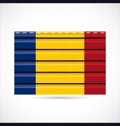 Romania siding produce company icon vector image