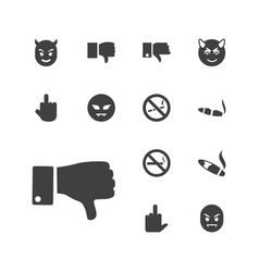 13 bad icons vector