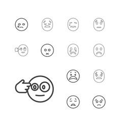 13 depression icons vector