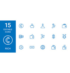 15 rich icons vector