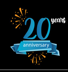 20 anniversary pictogram icon years birthday logo vector image