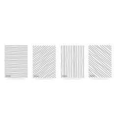 abstract pattern with lines hand drawn set vector image