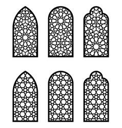 Arabic arch window or door set cnc pattern laser vector