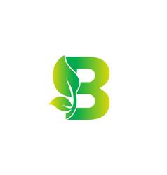 B alphabet nature logo design concept vector