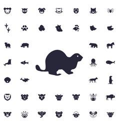 Beaver icon vector