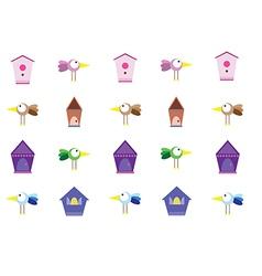 Bird birdhouse vector
