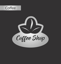 Black and white style icon of coffee shop logo vector