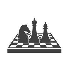 Black chess logo template vector