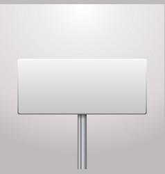 Blank signboard vector