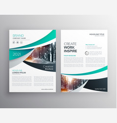 Blye annual report brochure flyer design template vector