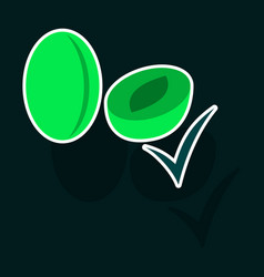 Broccoli sticker isolated on background fresh vector