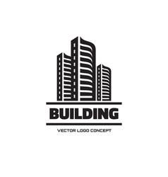 Building - logo concept vector image