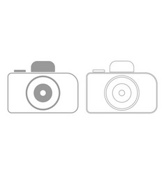Camera grey set icon vector