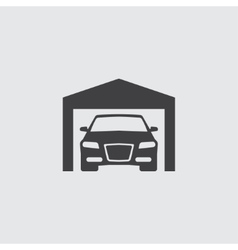 Car in garage icon vector image