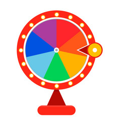 cartoon wheel fortune lottery design element vector image