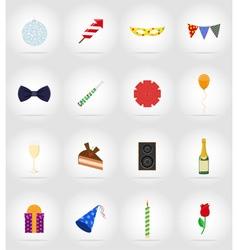 celebration flat icons 17 vector image