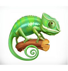 chameleon 3d icon vector image