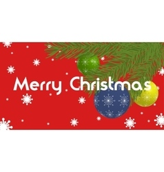 Christmas Banner with christmas balls and branches vector