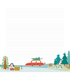 Christmas design for notebook diary organizers vector image