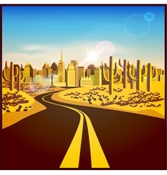 City in the desert vector