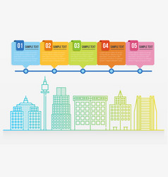 Cityscape infographic template vector