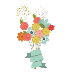 colorful flowers bouquet vector image
