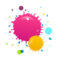 colorful paint splashes background vector image