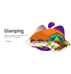 Comfortable modern tent poster vector