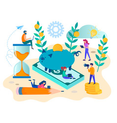 concept of the need to save and control money vector image
