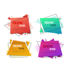 creative banner templates set abstract vector image