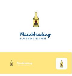 creative drink bottle logo design flat color logo vector image