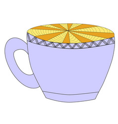 cup with floral vintage design elements eps10 vector image