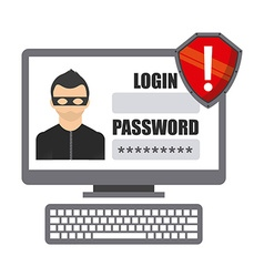 cyber security vector image
